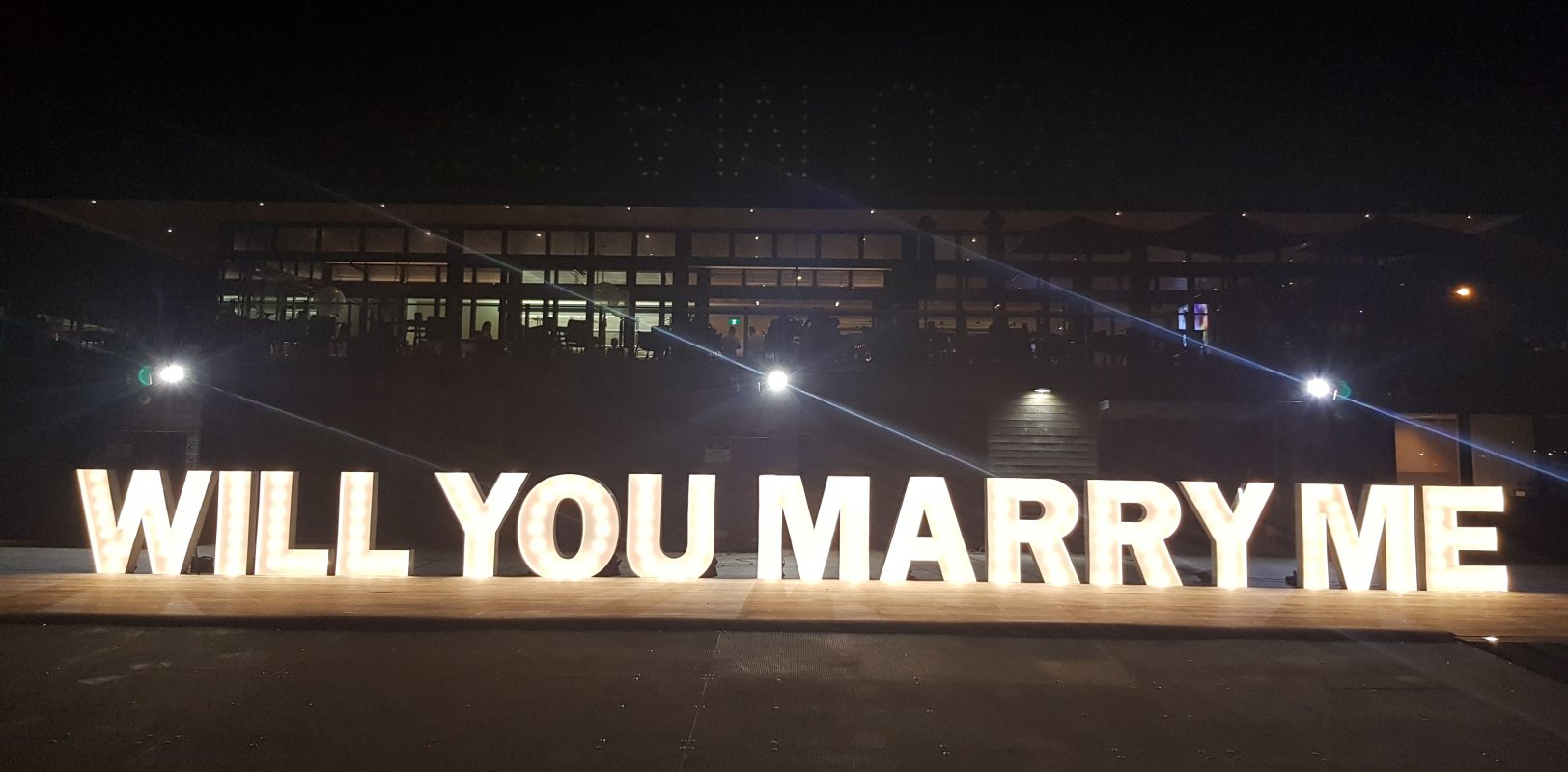 creative letter lights the wedding local